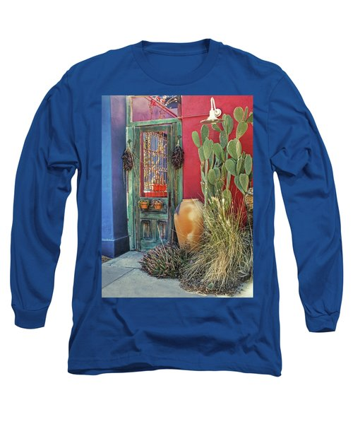 Enter - You Are Always Welcome Long Sleeve T-Shirt by Lucinda Walter