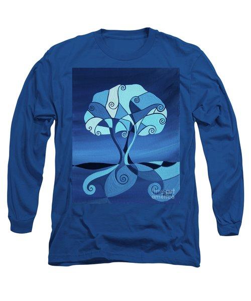 Enveloped In Blue Long Sleeve T-Shirt