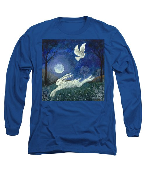 Escape With A Blessing Long Sleeve T-Shirt by Lise Winne
