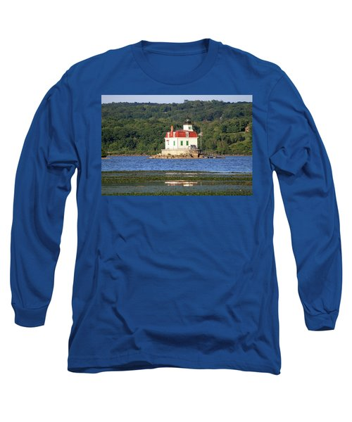 Long Sleeve T-Shirt featuring the photograph Esopus Lighthouse In Summer #4 by Jeff Severson