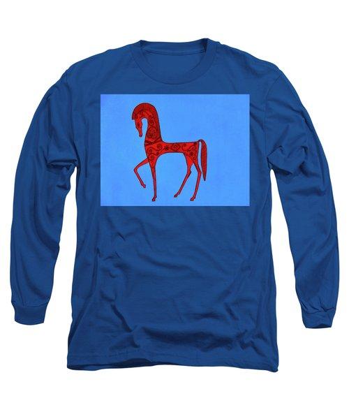 Etruscan Horse #2 Long Sleeve T-Shirt
