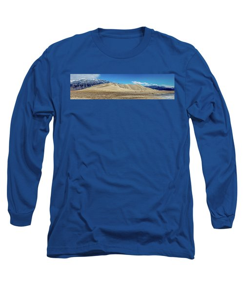 Long Sleeve T-Shirt featuring the photograph Eureka Dunes - Death Valley by Peter Tellone