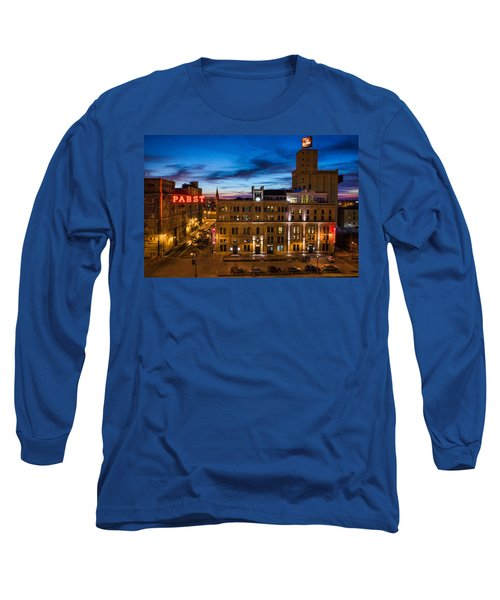 Evening At Pabst Long Sleeve T-Shirt by Bill Pevlor