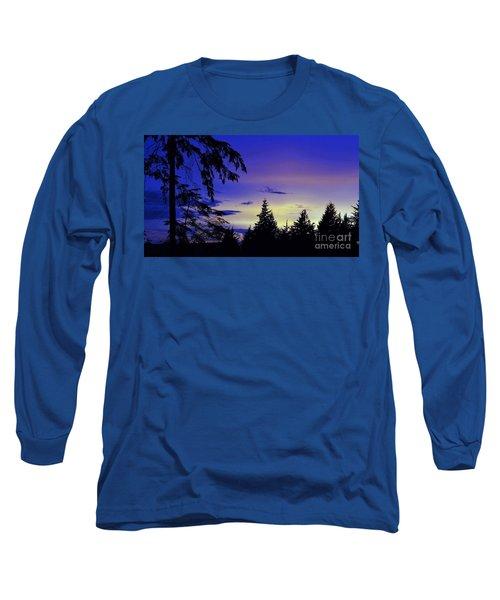 Evening Blue Long Sleeve T-Shirt