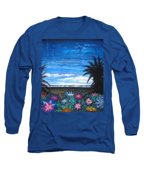 Tropical Evening Long Sleeve T-Shirt by Mary Ellen Frazee