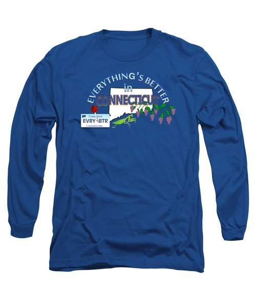 Everything's Better In Connecticut Long Sleeve T-Shirt by Pharris Art