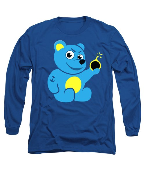 Evil Tattooed Teddy Bear Long Sleeve T-Shirt