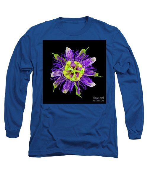 Expressive Yellow Green And Violet Passion Flower 50674c Long Sleeve T-Shirt