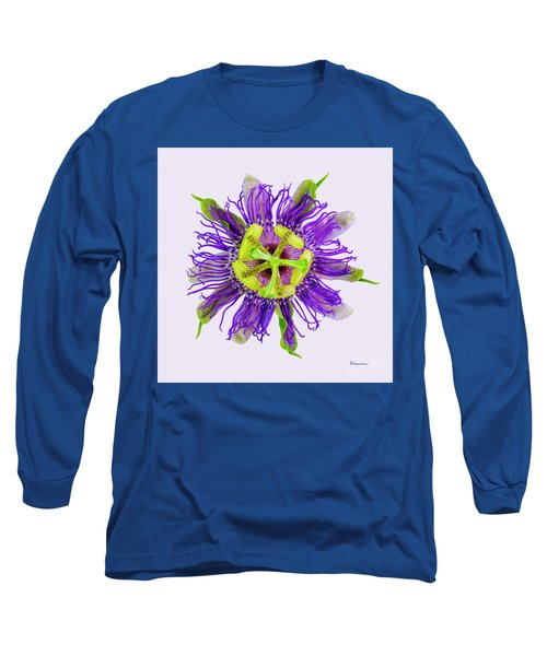 Expressive Yellow Green And Violet Passion Flower 50674v Long Sleeve T-Shirt