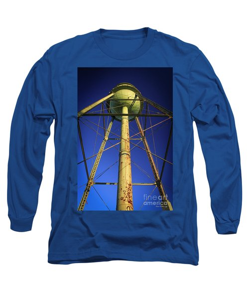 Long Sleeve T-Shirt featuring the photograph Faithful Mary Leila Cotton Mill Water Tower Art by Reid Callaway