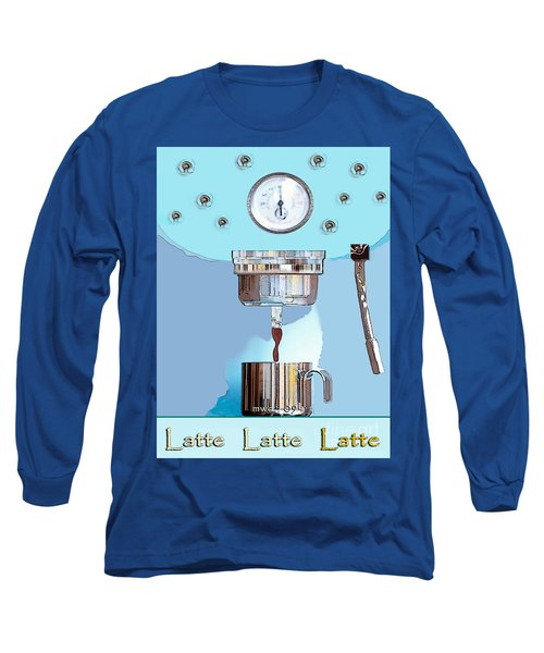 Long Sleeve T-Shirt featuring the painting Fantasy Espresso Machine by Marian Cates