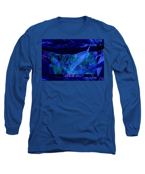 Fantasy With African Violets And Peace Lily 40 Long Sleeve T-Shirt