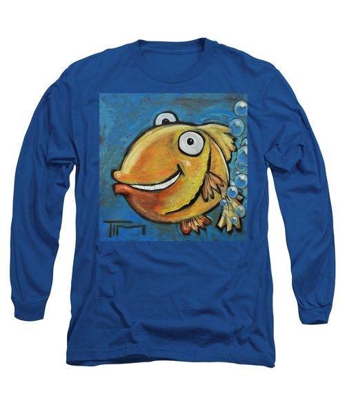 Farting Fish Long Sleeve T-Shirt