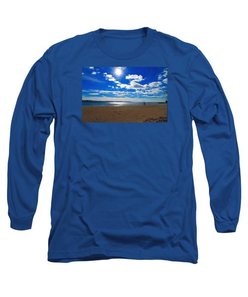 Long Sleeve T-Shirt featuring the photograph February Blue by Valentino Visentini