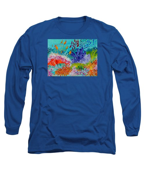 Long Sleeve T-Shirt featuring the painting Feeding Time On The Reef #2 by Lyn Olsen