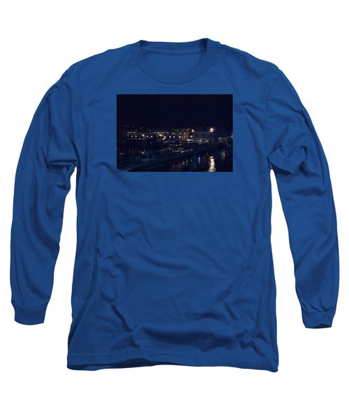 Long Sleeve T-Shirt featuring the photograph Festive Harbor Lights by Margie Avellino