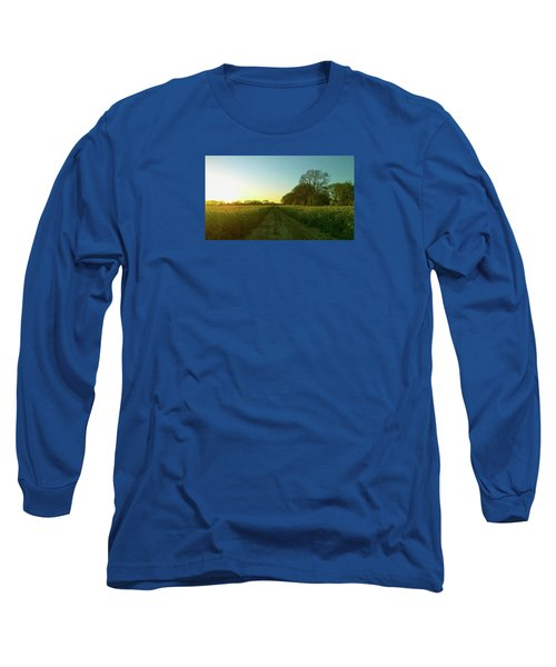 Long Sleeve T-Shirt featuring the photograph Field Of Gold by Anne Kotan