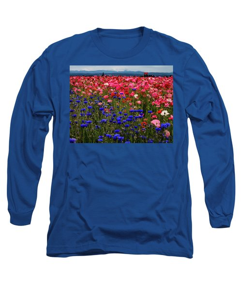 Fields Of Flowers Long Sleeve T-Shirt