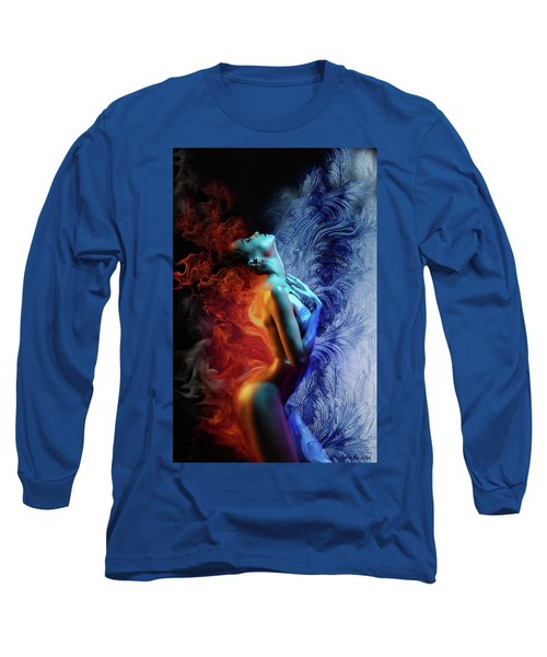 Fire And Ice Long Sleeve T-Shirt by Lilia D