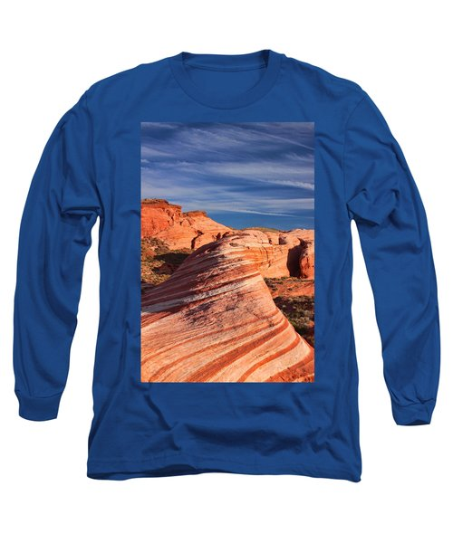 Fire Wave Long Sleeve T-Shirt by Tammy Espino