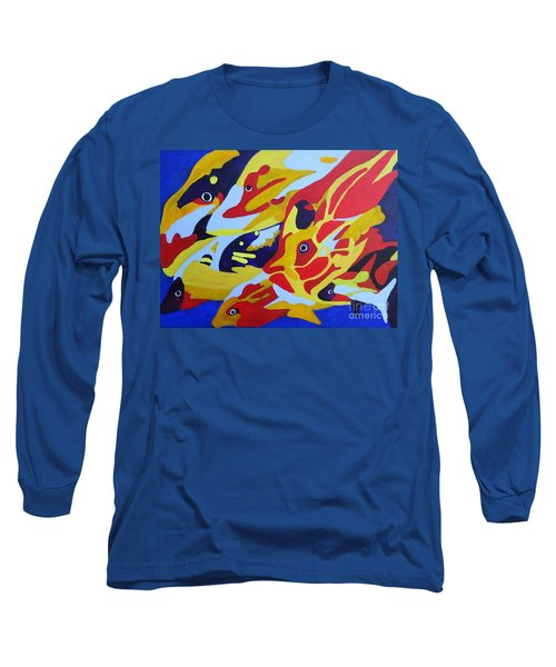 Fish Shoal Abstract 2 Long Sleeve T-Shirt