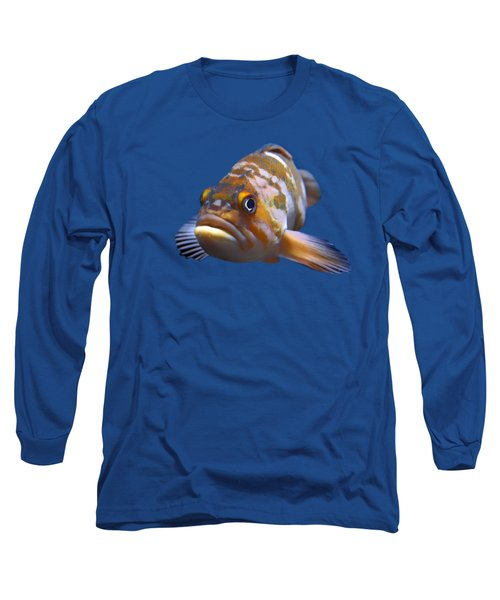 Long Sleeve T-Shirt featuring the photograph Fish - Transparent by Nikolyn McDonald