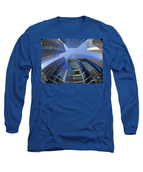 Long Sleeve T-Shirt featuring the photograph Fitch Ratings Manhattan Nyc by Juergen Held