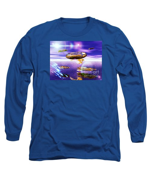 Long Sleeve T-Shirt featuring the digital art Fleet Dense by Jacqueline Lloyd
