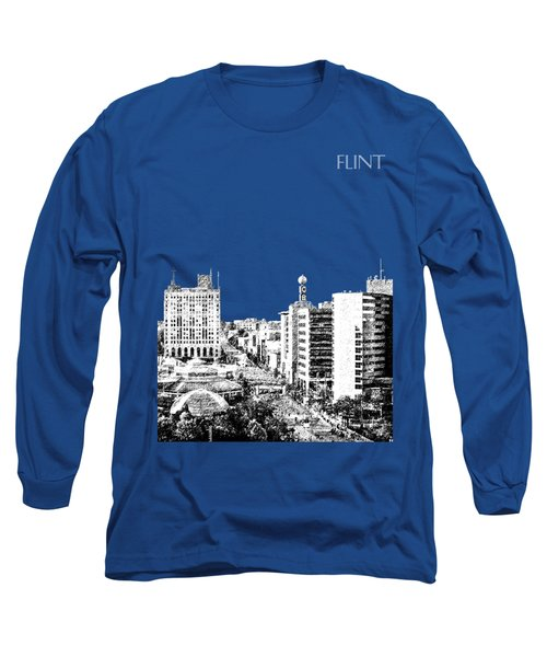 Flint Michigan Skyline - Aqua Long Sleeve T-Shirt