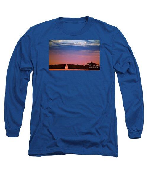 Floating On Orange Long Sleeve T-Shirt by Rebecca Davis