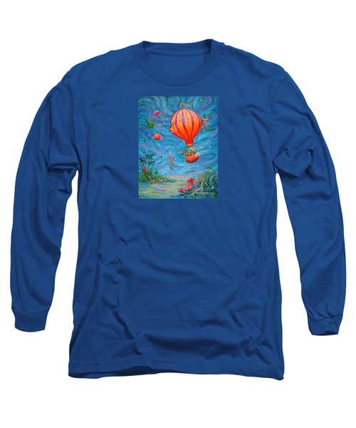 Floating Under The Sea Long Sleeve T-Shirt by Dee Davis