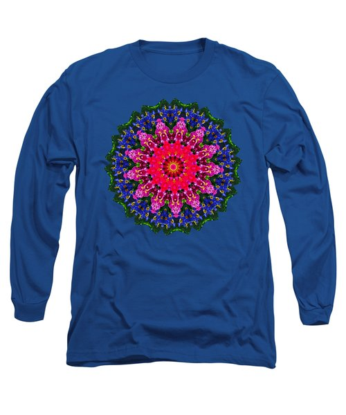 Long Sleeve T-Shirt featuring the photograph Floral Kaleidoscope By Kaye Menner by Kaye Menner