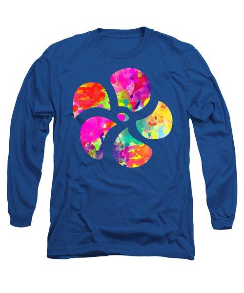 Flower Power 1 - Tee Shirt Design Long Sleeve T-Shirt