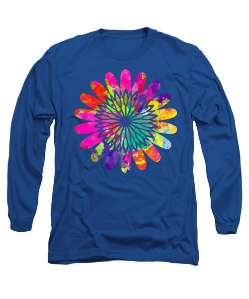 Flower Power 3 - Tee Shirt Design Long Sleeve T-Shirt by Debbie Portwood