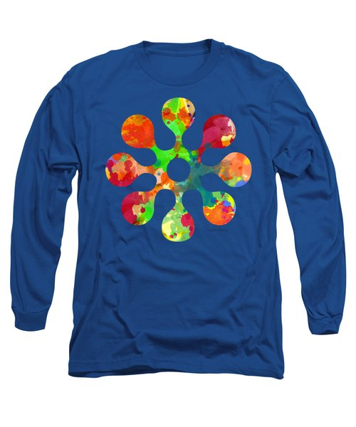 Flower Power 4 - Tee Shirt Design Long Sleeve T-Shirt by Debbie Portwood