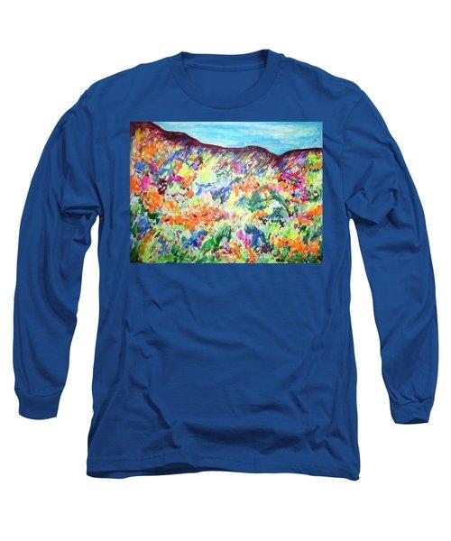 Flowering Hills Long Sleeve T-Shirt by Esther Newman-Cohen