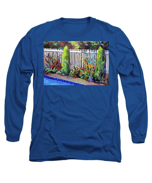 Flowers By The Pool Long Sleeve T-Shirt