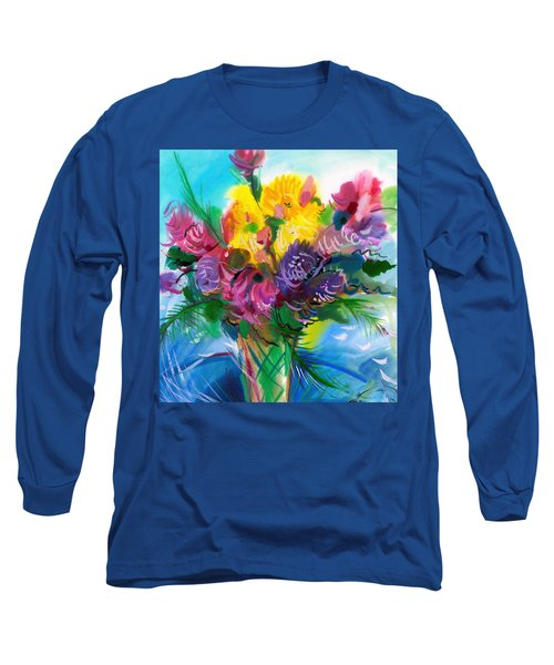 Flowers For My Jesus Long Sleeve T-Shirt by Karen Showell