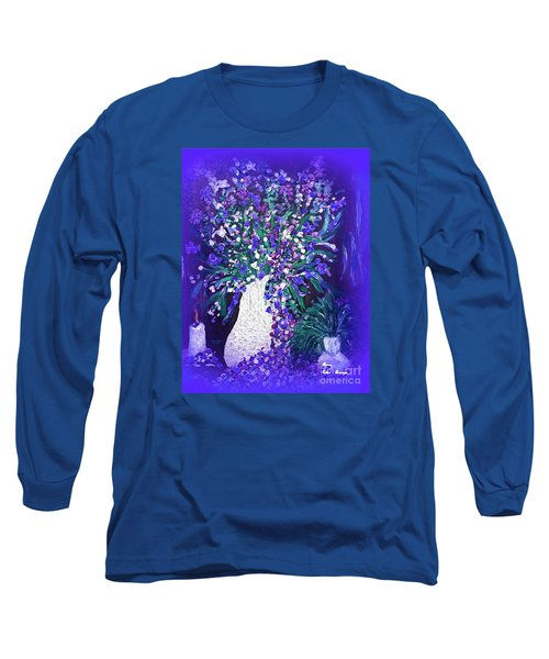 Long Sleeve T-Shirt featuring the painting Flower Art  Spring Flowers In A Vase by Sherri  Of Palm Springs