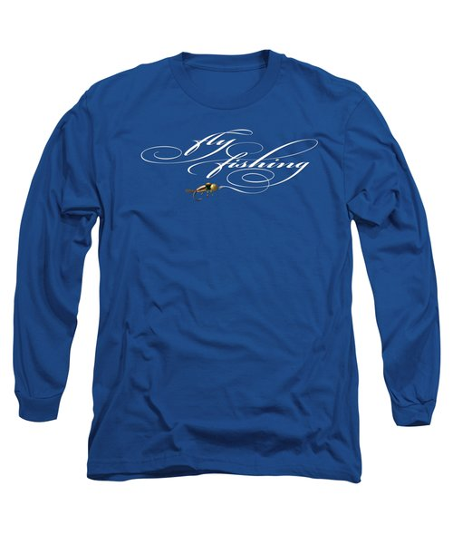 Fly Fishing Nymph Long Sleeve T-Shirt by Rob Corsetti