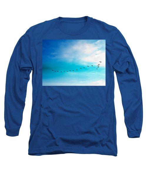 Flying Away Long Sleeve T-Shirt by Jose Rojas