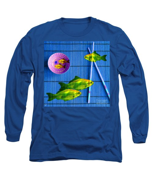 Flying Fish And The Pink Moon Long Sleeve T-Shirt
