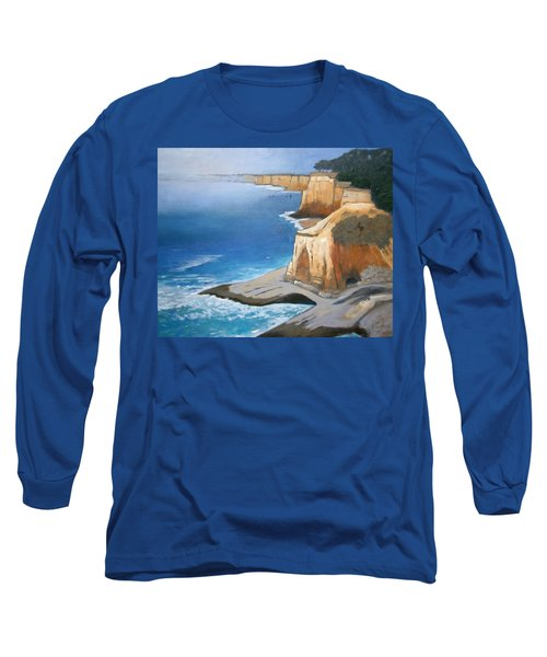 Long Sleeve T-Shirt featuring the painting Fog Burning Off by Gary Coleman