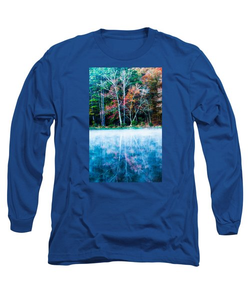 Fog On The Lake Long Sleeve T-Shirt by Parker Cunningham