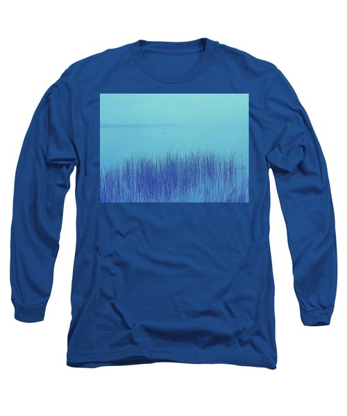 Long Sleeve T-Shirt featuring the photograph Fog Reeds by Laurie Stewart