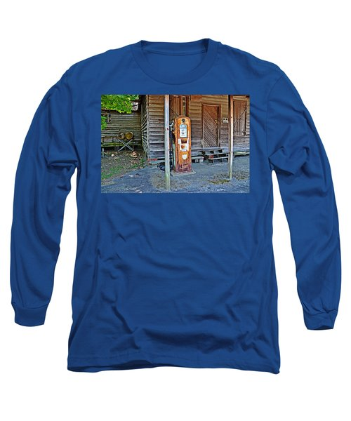 Forty Nine Cents Per Gallon Long Sleeve T-Shirt by Linda Brown
