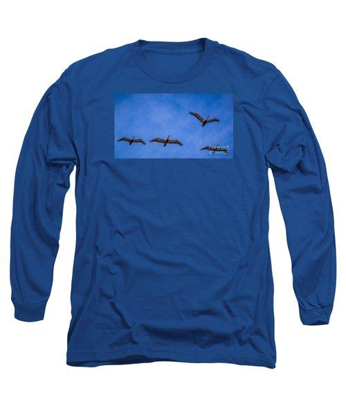 Four Pelicans Long Sleeve T-Shirt