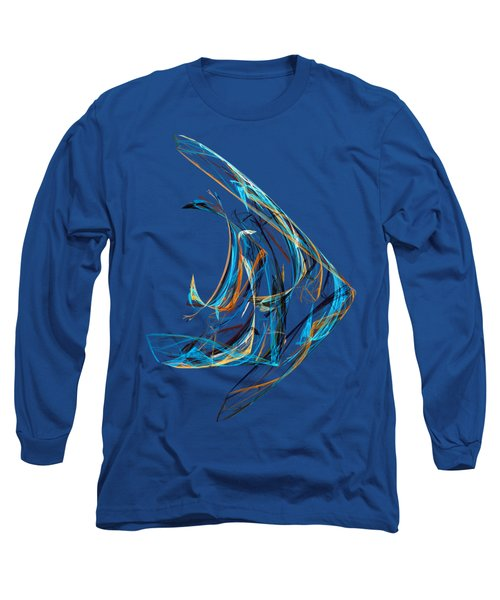 Fractal - Angelfish Long Sleeve T-Shirt