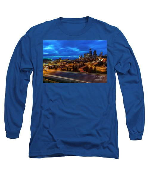 Freeway 5 North To Seattle Long Sleeve T-Shirt