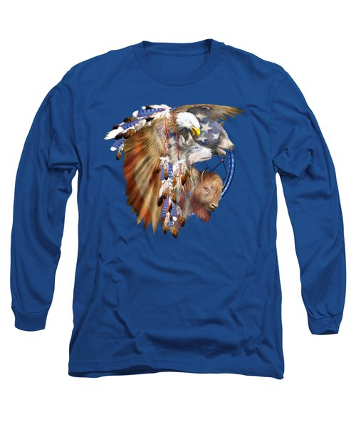 Freedom Lives Long Sleeve T-Shirt by Carol Cavalaris